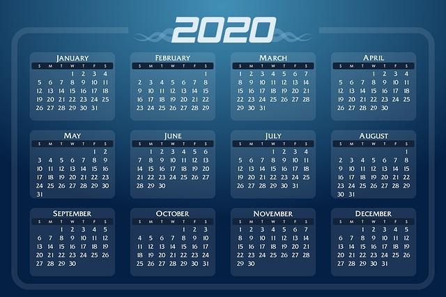 ปฏิทินนามบัตร 2020